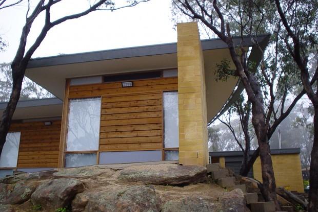 Passive solar design residence in Belair