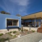 Birdwood Art House - A contemporary architecturally designed home - rear courtyard