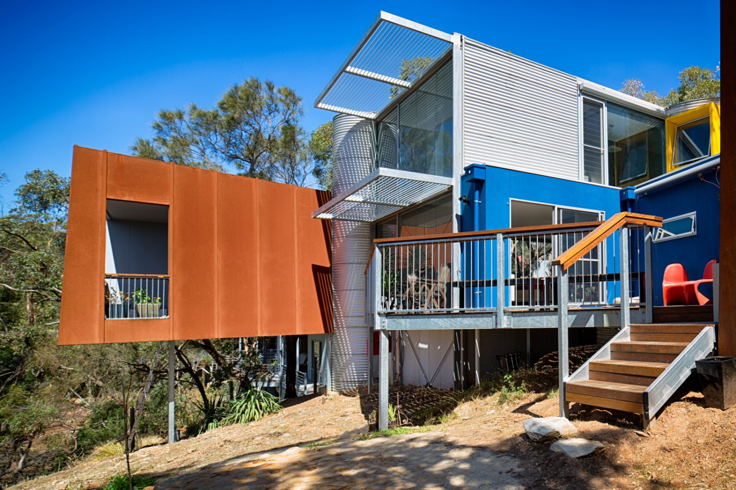 Adelaide hills residence corten alucobond cladding for Adelaide residential architects