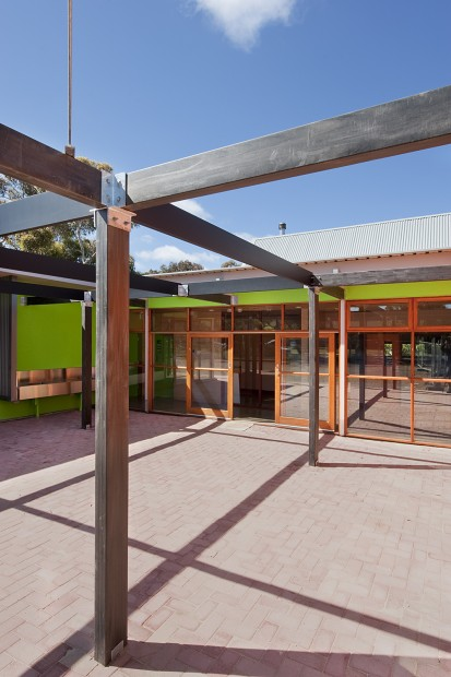 school, design, classroom, educational, earth, environmental, space, efficient, material, provide, natural, architecture, energy, carbon neutral, learning, rammed earth, straw bale, reverse brick veneer, hydronic heating, thermal mass, light, natural materials, sustainable